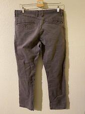 Volcom Mens Pants Beige Size 34X30 Modern Straight Chino