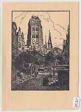 1578, Danzig Marien Kirche von Hans Böller seltene Kunstkarte !