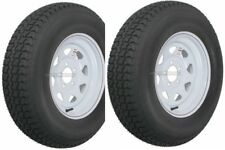 "2-Pack Trailer Wheel & Tire #420 ST205/75D15 205/75 D 15"" LRC 5 Hole White Spoke"