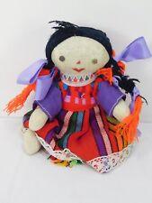 Vintage South American Folk Art Cloth Doll Handmade