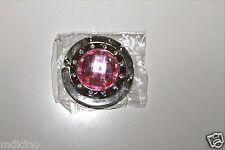 New in Bag Light Pink Crystal w/Clear Crystals Foldup Hand Bag/Purse Hook Hangar