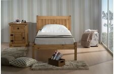 "SINGLE WOODEN PINE BED + QUALITY DUVET + 2 PILLOWS + 6"" MEMORY FOAM MATTRESS"