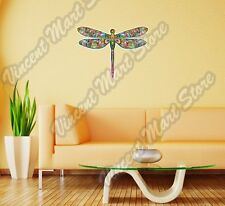 "Dragonfly Abstract Colorful Rainbow Wall Sticker Room Interior Decor 25""X20"""