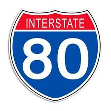 Interstate 80 Sticker - Highway Sign Decal Ohio Pennsylvania USA