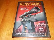 GUNS & AMMO TELEVISION SEASON 7 Guns Gun Firearms Rifles Pistols DVD SET NEW