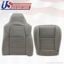 2002 To 2007 Ford F-250  Driver Bottom & Top Lean Back Leather Seat Covers Gray