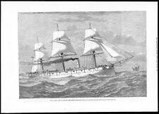 1879 H.M.S. COMUS Steel Corvette built in Glasgow Royal Navy Ship (049)