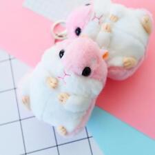 Plush Hamster Pendant Key Chain Clasp Key Ring Keyring Handbag Car Decor HOT - S