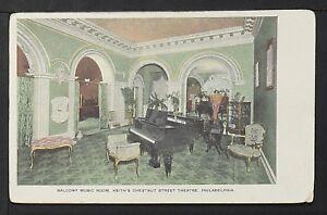 PHILADELPHIA 922-Balcony Music Room, Keith´s Chesnut Street Theatre