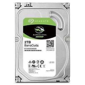 """Seagate 2TB BarraCuda 3.5"""" SATA HDD Internal Desktop Hard Drive 7200RPM 256MB"""