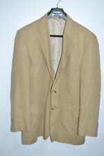 Mens John Ashford Linen Blend 2 Button Blazer 46L Khaki/Brown