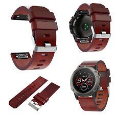 Reloje Correa reloj banda pulsera de 26mm de cuero para Garmin Fenix 3 Fenix 5 X