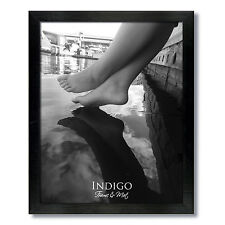 Set of 2 - 12x16 Black Wood Picture Frames and Clear Glass