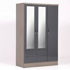 Nevada 3 Doors Wardrobe with Mirror