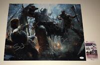 """CHRISTOPHER JUDGE SUNNY SULJIC +1 Hand Signed 16x20 """"GOD OF WAR"""" JSA COA KRATOS"""