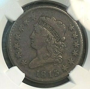1813 Classic Head Large Cent NGC VG10 Looks Fine+ Wow CHN
