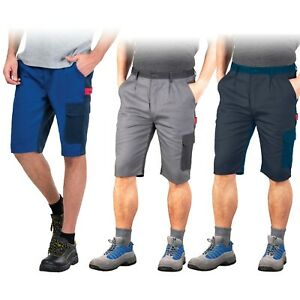 Arbeitshose kurz Shorts 100% Baumwolle Kurze Hose in grau oder blau Gr. S-XXXL