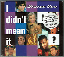 "STATUS QUO - 5"" CD - I Didn't Mean It (4 Track Gatefold) POLYDOR.  UK"