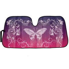 Purple Butterfly Car Windshield Sun Shade - Reflective Sunshade Keeps Car Cool