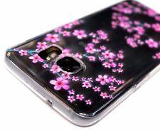 for Samsung Galaxy S7 EDGE - Ultra Slim Thin Cherry Blossom Silicone Skin Case