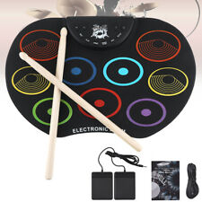 Electronic Drum Set 9 Silicon Pad Roll Up Drum Pedals Drum Pad Drumsticks Gift