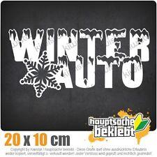 Winterauto Schneeflocke csf0614 20 x 10 cm JDM  Sticker Aufkleber