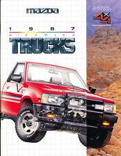 1987 Mazda B2600 Pickup Truck and 4x4 26-page Car Sales Brochure Catalog