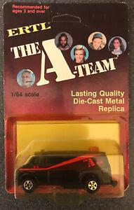 Vintage Ertl The A-Team Van 1/64 MOC Mint On Card Unpunched 1823 Die Cast 1983