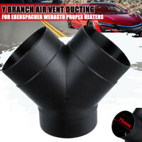 75mm Y Branch Auto Air Vent Ducting For Eberspacher For Webasto Propex