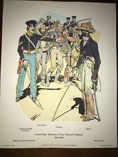 Military Uniforms in America Print #343 1970 Texas Mounted Volunteers 1847 Hays