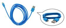 cavo dati USB trasferimento PC ~ Connessione Micro Universale ~ Blu ~ 3 metri