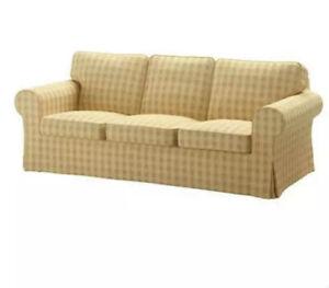 Ikea Cover for Ektorp 3 Seat Sofa in Skaftarp Yellow 303.398.39