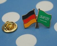 Freundschaftspin Deutschland Saudi Arabien Pin Button Badge Anstecker Asien