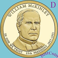 2013-D WILLIAM McKINLEY GOLDEN PRESIDENTIAL DOLLAR FROM MINT UNCIRCULATED ROLL