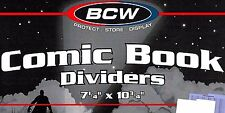 5 Comic Dividers Index Tab for Short or Long Comic Storage Boxes Rigid Plastic