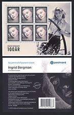 Schweden - Sweden 2015 - Ingrid Bergman - Kleinbogen - minisheet Folder - MNH **