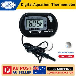 Digital LCD Thermometer Aquarium Fish Tank Marine Terrarium Reptile Frog Lizard