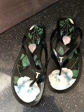 Ted Baker Floral Flip Flop Size 6
