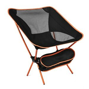 Ultralight Back Folding Chair High Load Aluminum Portable For Travel Picnic Seat