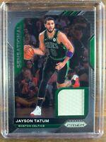 Jayson Tatum Basketball Game Used Patch Card Panini Prizm Boston Celtics SP NBA