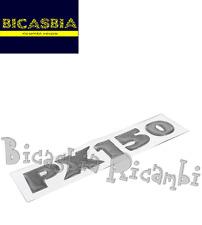 2913 - TARGHETTA ADESIVA RESINATA COFANO LATERALE VESPA PX 150 FRENO A DISCO