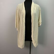 Catherines cream Light Weight Knit Open Cardigan 3/4 Sleeves 5x petite