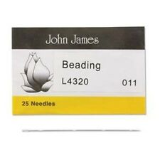 Size 11 John James English Beading Needles---Pack of 25