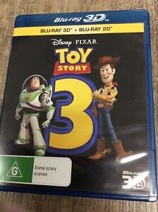 Toy Story 3 - 3D Blu Ray - Region Free - 2 Disc Edition - LIKE NEW - FREE POST