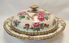 F Winkle & Co England Whieldon Ware Vintage PHEASANT Covered Serving Bowl