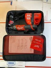 """Milwaukee 12v M12 1/4"""" Drive Ratchet Kit w 2 Batteries / Charger 2556-22 New"""
