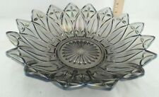 "Vintage Federal 10 1/4"" petal smoke Iridescent Carnival petal serving bowl"