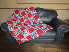 """Rag Quilt BOY SCOUTS OF AMERICA Fabric LARGE Blanket 45"""" x 52"""""""