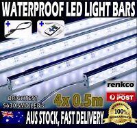 4X 0.5m Waterproof Led Strip Light Bars Cool White 5630 12V For Car Camping Boat