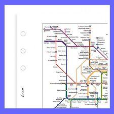 Filofax Pocket Inserisci metropolitana di Londra Underground e rail map 211903 RICARICA